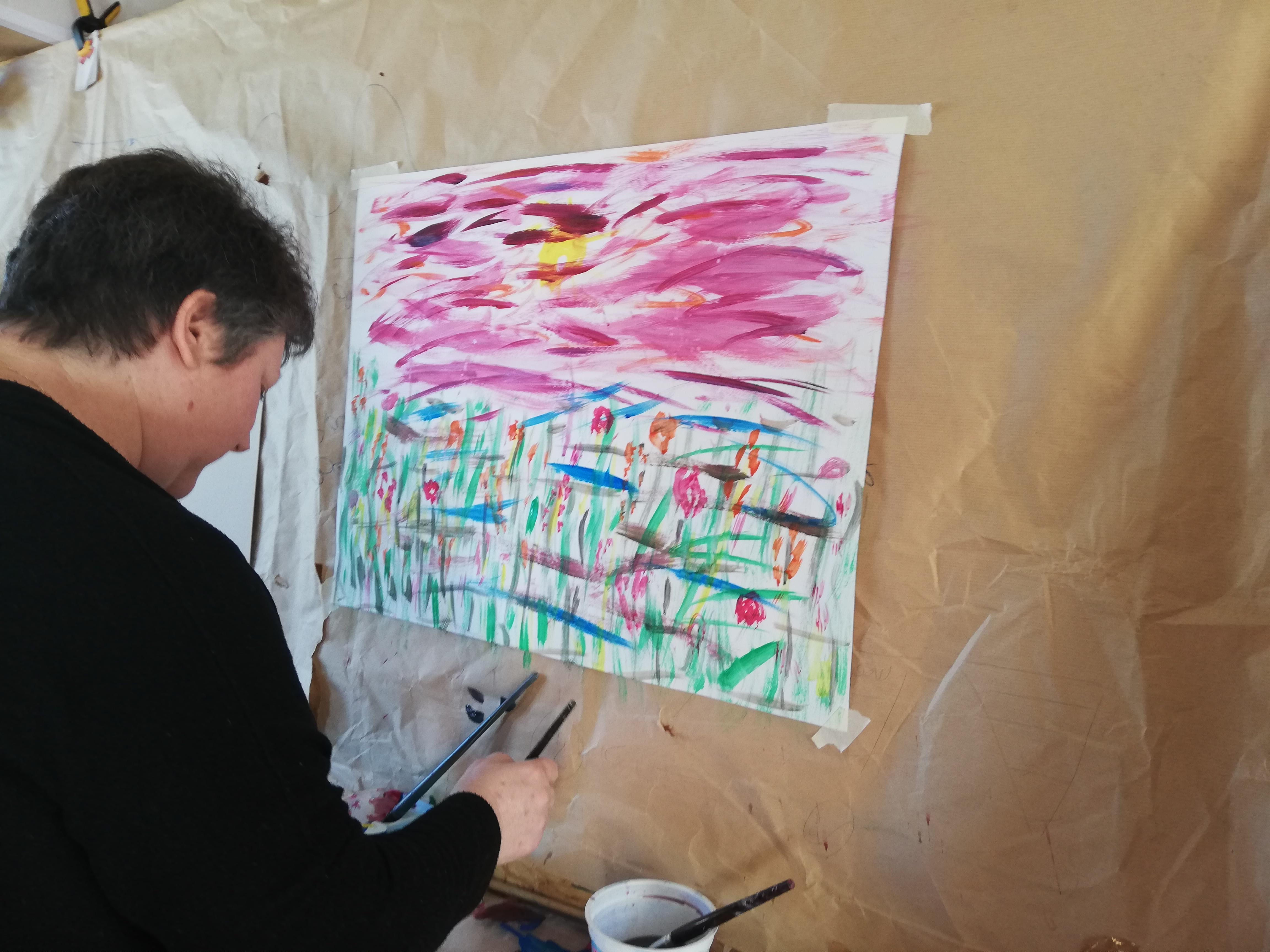 prise en charge individuelle a l'atelier d'artiste